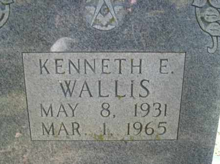 WALLIS, KENNETH E. - Boone County, Arkansas | KENNETH E. WALLIS - Arkansas Gravestone Photos