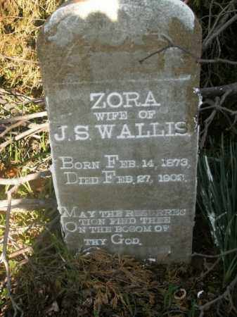WALLIS, ZORA - Boone County, Arkansas | ZORA WALLIS - Arkansas Gravestone Photos