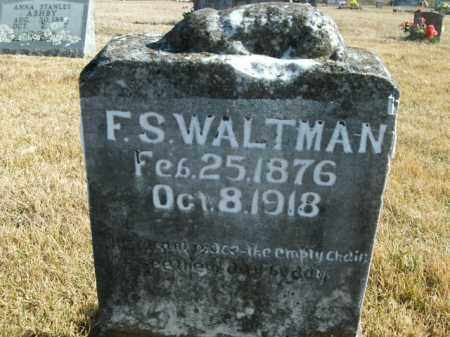 WALTMAN, F.S. - Boone County, Arkansas | F.S. WALTMAN - Arkansas Gravestone Photos