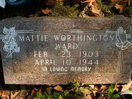 WARD, MATTIE - Boone County, Arkansas | MATTIE WARD - Arkansas Gravestone Photos