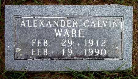 WARE, ALEXANDER CALVIN - Boone County, Arkansas | ALEXANDER CALVIN WARE - Arkansas Gravestone Photos