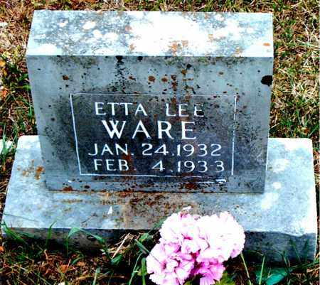 WARE, ETTA LEE - Boone County, Arkansas | ETTA LEE WARE - Arkansas Gravestone Photos