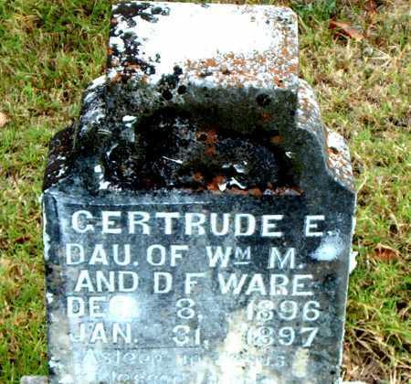 WARE, GERTRUDE E - Boone County, Arkansas | GERTRUDE E WARE - Arkansas Gravestone Photos