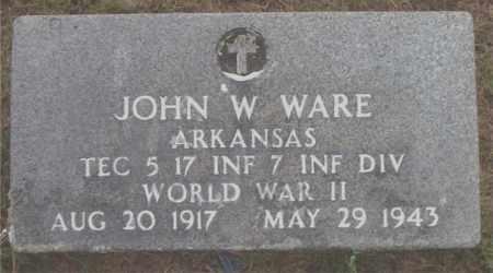 WARE  (VETERAN WWII), JOHN  W - Boone County, Arkansas | JOHN  W WARE  (VETERAN WWII) - Arkansas Gravestone Photos