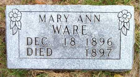 WARE, MARY ANN - Boone County, Arkansas | MARY ANN WARE - Arkansas Gravestone Photos