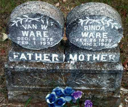 WARE, VAN WARE - Boone County, Arkansas | VAN WARE WARE - Arkansas Gravestone Photos