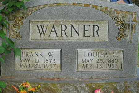 WARNER, FRANK WESLEY - Boone County, Arkansas | FRANK WESLEY WARNER - Arkansas Gravestone Photos