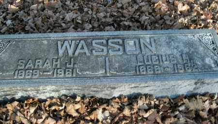 WASSON, SARAH J. - Boone County, Arkansas | SARAH J. WASSON - Arkansas Gravestone Photos