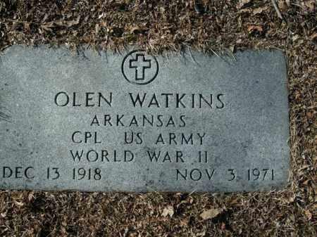 WATKINS  (VETERAN WWII), OLEN - Boone County, Arkansas | OLEN WATKINS  (VETERAN WWII) - Arkansas Gravestone Photos