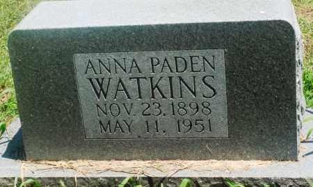 PADEN WATKINS, ANNA - Boone County, Arkansas | ANNA PADEN WATKINS - Arkansas Gravestone Photos