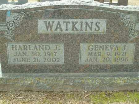 WATKINS, GENEVA J. - Boone County, Arkansas | GENEVA J. WATKINS - Arkansas Gravestone Photos
