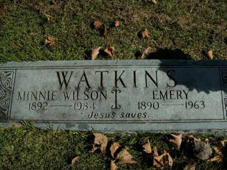 WILSON WATKINS, MINNIE - Boone County, Arkansas | MINNIE WILSON WATKINS - Arkansas Gravestone Photos