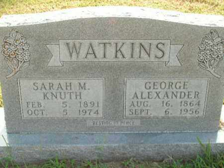 KNUTH WATKINS, SARAH M. - Boone County, Arkansas | SARAH M. KNUTH WATKINS - Arkansas Gravestone Photos