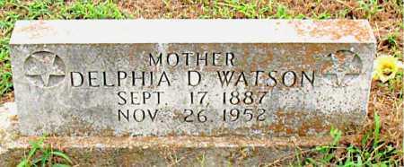 WATSON, DELPHIA D - Boone County, Arkansas | DELPHIA D WATSON - Arkansas Gravestone Photos