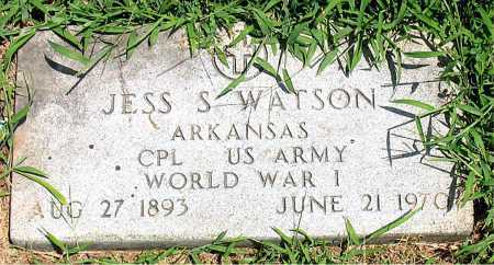 WATSON  (VETERAN WWI), JESS S - Boone County, Arkansas | JESS S WATSON  (VETERAN WWI) - Arkansas Gravestone Photos