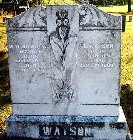 WATSON, A. E. - Boone County, Arkansas | A. E. WATSON - Arkansas Gravestone Photos