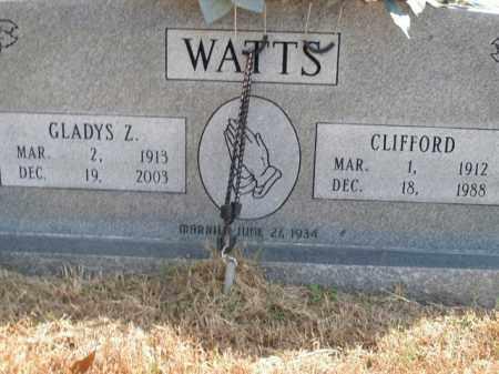 WATTS, GLADYS Z. - Boone County, Arkansas | GLADYS Z. WATTS - Arkansas Gravestone Photos