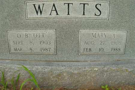 WATTS, MARY A. - Boone County, Arkansas | MARY A. WATTS - Arkansas Gravestone Photos