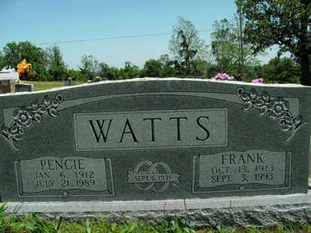 WATTS, PENCIE - Boone County, Arkansas | PENCIE WATTS - Arkansas Gravestone Photos