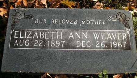 WEAVER, ELIZABETH ANN - Boone County, Arkansas | ELIZABETH ANN WEAVER - Arkansas Gravestone Photos