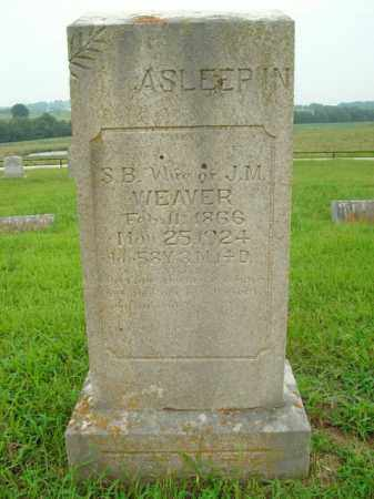 WEAVER, S.B. - Boone County, Arkansas | S.B. WEAVER - Arkansas Gravestone Photos