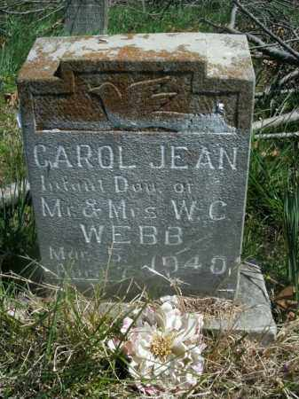 WEBB, CAROL JEAN - Boone County, Arkansas | CAROL JEAN WEBB - Arkansas Gravestone Photos