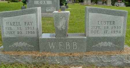 WEBB, LUSTER - Boone County, Arkansas | LUSTER WEBB - Arkansas Gravestone Photos