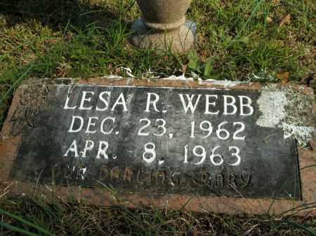 WEBB, LESA R. - Boone County, Arkansas | LESA R. WEBB - Arkansas Gravestone Photos