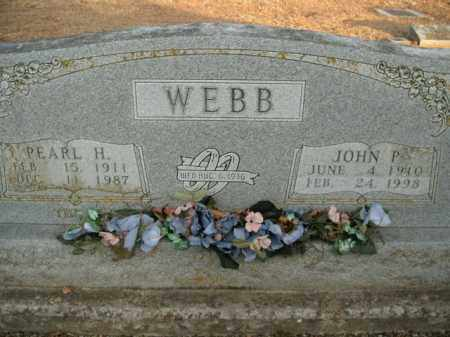 WEBB, PEARL H. - Boone County, Arkansas | PEARL H. WEBB - Arkansas Gravestone Photos