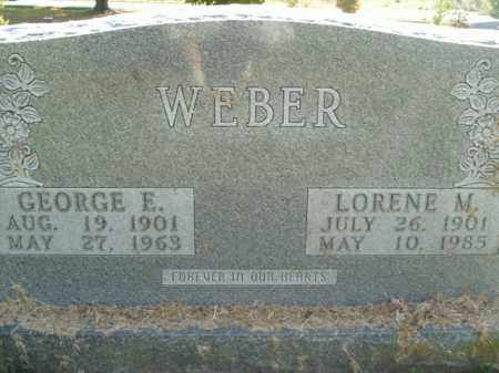 WEBER, GEORGE E. - Boone County, Arkansas | GEORGE E. WEBER - Arkansas Gravestone Photos