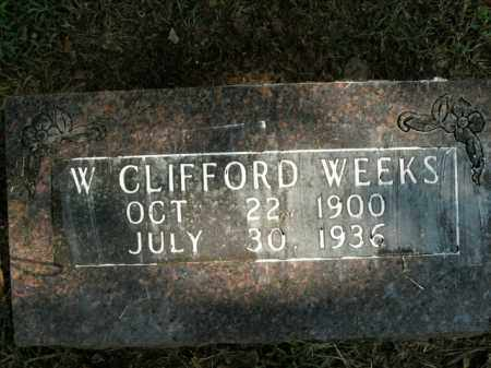 WEEKS, W. CLIFFORD - Boone County, Arkansas | W. CLIFFORD WEEKS - Arkansas Gravestone Photos