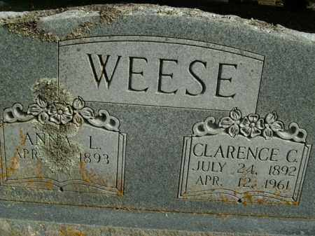 WEESE, CLARENCE C. - Boone County, Arkansas | CLARENCE C. WEESE - Arkansas Gravestone Photos