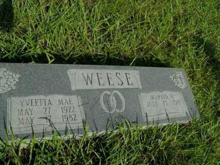 WEESE, YVEETTA MAE - Boone County, Arkansas | YVEETTA MAE WEESE - Arkansas Gravestone Photos