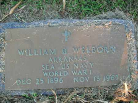 WELBORN  (VETERAN WWI), WILLIAM B. - Boone County, Arkansas | WILLIAM B. WELBORN  (VETERAN WWI) - Arkansas Gravestone Photos