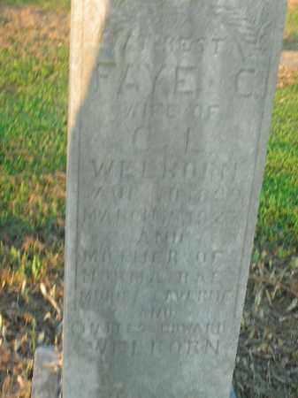 WELBORN, FAYE CORA - Boone County, Arkansas | FAYE CORA WELBORN - Arkansas Gravestone Photos