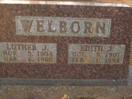 WELBORN, LUTHER J. - Boone County, Arkansas | LUTHER J. WELBORN - Arkansas Gravestone Photos