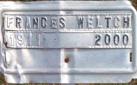 WELTCH, FRANCES - Boone County, Arkansas | FRANCES WELTCH - Arkansas Gravestone Photos