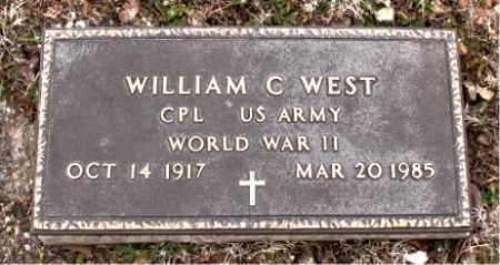 WEST   (VETERAN WWII), WILLIAM C - Boone County, Arkansas | WILLIAM C WEST   (VETERAN WWII) - Arkansas Gravestone Photos