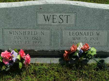 WEST, LEONARD W. - Boone County, Arkansas | LEONARD W. WEST - Arkansas Gravestone Photos