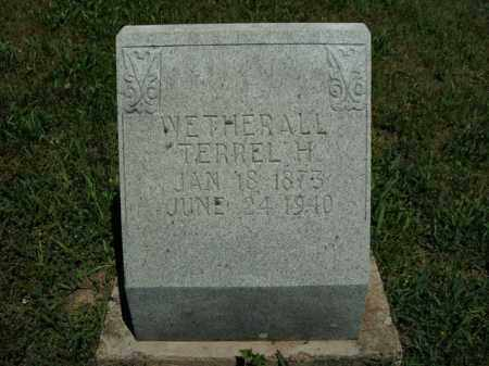 WETHERALL, TERREL H. - Boone County, Arkansas | TERREL H. WETHERALL - Arkansas Gravestone Photos