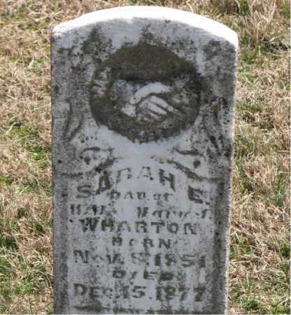 WHARTON, SARAH E. - Boone County, Arkansas | SARAH E. WHARTON - Arkansas Gravestone Photos