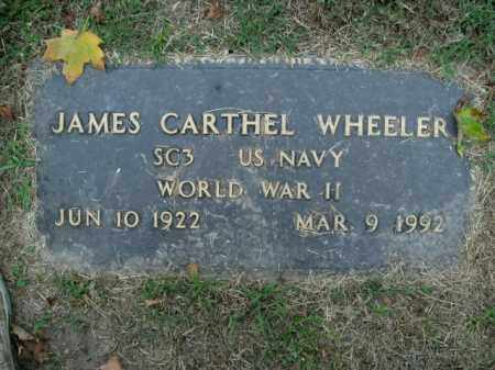 WHEELER  (VETERAN WWII), JAMES CARTHEL - Boone County, Arkansas | JAMES CARTHEL WHEELER  (VETERAN WWII) - Arkansas Gravestone Photos