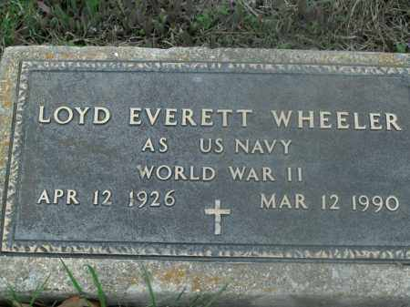 WHEELER  (VETERAN WWII), LOYD EVERETT - Boone County, Arkansas | LOYD EVERETT WHEELER  (VETERAN WWII) - Arkansas Gravestone Photos