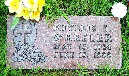 WHEELER, PHYLLIS  E. - Boone County, Arkansas | PHYLLIS  E. WHEELER - Arkansas Gravestone Photos