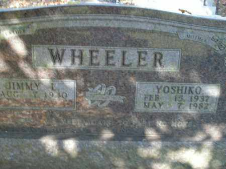 WHEELER, YOSHIKO - Boone County, Arkansas | YOSHIKO WHEELER - Arkansas Gravestone Photos
