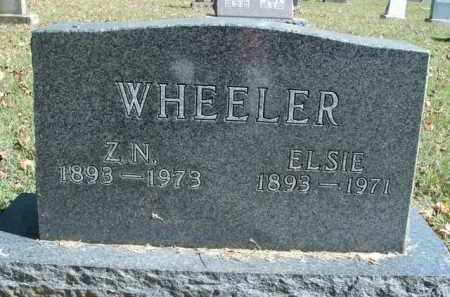 WHEELER, Z.N. - Boone County, Arkansas | Z.N. WHEELER - Arkansas Gravestone Photos
