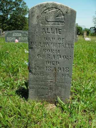 WHITAKER, ALLIE - Boone County, Arkansas   ALLIE WHITAKER - Arkansas Gravestone Photos
