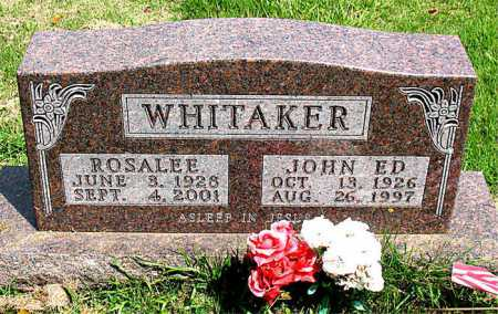 WHITAKER  (VETERAN WWII), JOHN ED - Boone County, Arkansas | JOHN ED WHITAKER  (VETERAN WWII) - Arkansas Gravestone Photos