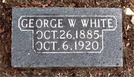 WHITE, GEORGE W. - Boone County, Arkansas | GEORGE W. WHITE - Arkansas Gravestone Photos