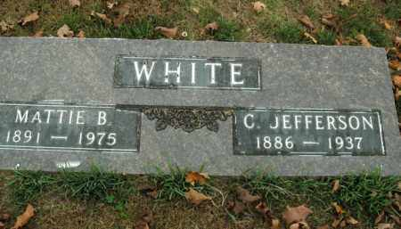 WHITE, C. JEFFERSON - Boone County, Arkansas | C. JEFFERSON WHITE - Arkansas Gravestone Photos